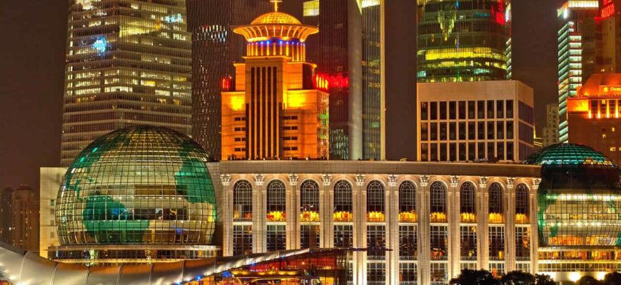 Image de nuit de Shanghai en Chine